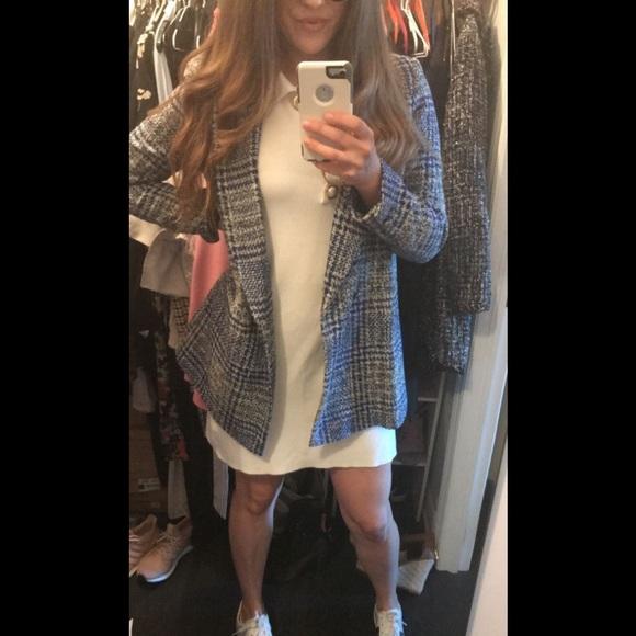 Zara plaid long blazer
